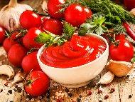 Лесен домашен кетчуп от доматено пюре и мед без консервиране (стерилизиране)